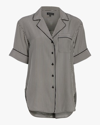 Rag & Bone Luca Short-Sleeve Pajama Top