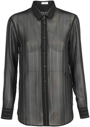 Saint Laurent Metallic Stripe Buttoned Shirt