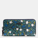 Coach Accordion Zip Wallet In Yankee Floral Print Canvas