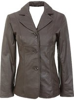 Billy Austins Women's Jessi 3 Button Leather Coat in