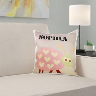East Urban Home Sophia Ladybug Name Personalized Cute Kids Art Pillow Cover