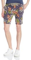 Jet Lag Men's Self Belted Floral Short