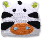 Mud Pie Unisex-Baby Newborn Safari Zebra Crochet Hat