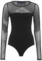 French Connection Allie Bodysuit, Black