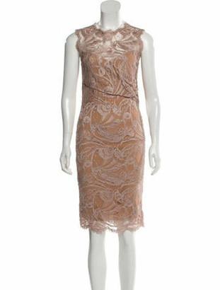 Emilio Pucci Lace Knee-Length Dress Mauve