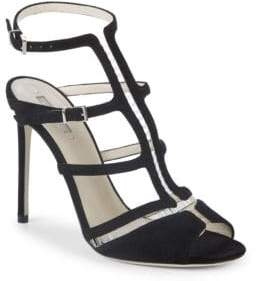 Giorgio Armani Leather Caged Sandals