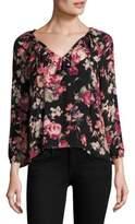 Joie Nadege Floral Silk Blouse