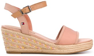 Tommy Hilfiger Espadrille Wedge Ankle Strap Sandals