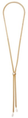 Rosantica Canasta Pearl-embellished Curb-chain Necklace - Pearl