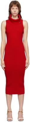 Balmain Red Rib Knit Dress