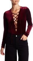Soprano Long Sleeve Velvet Bodysuit