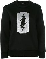 Neil Barrett printed sweatshirt - women - Polyurethane/Viscose - XS