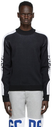 GCDS Black Fitted Sweatshirt