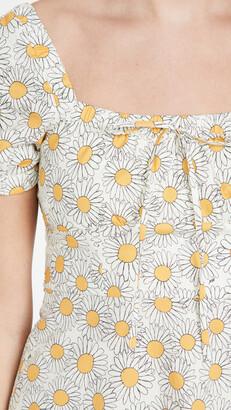 HVN Mini Holland Bow Tie Cotton Dress
