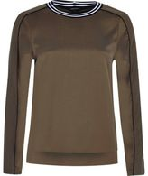 River Island Womens Khaki tipped sweatshirt