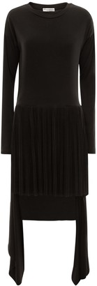 J.W.Anderson A-Line Pleated Jersey dress