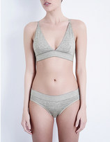 Base Range BASERANGE Triangle stretch-bamboo jersey soft-cup bra