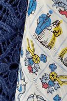 Anna Sui Lace-paneled silk kimono-style jacket