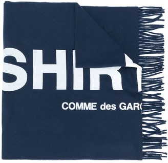 Comme des Garçons Shirt Embroidered Logo Scarf
