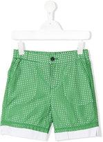 No21 Kids - perforated shorts - kids - Cotton/Spandex/Elastane - 6 yrs
