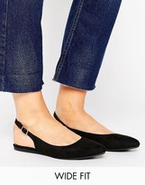 New Look Wide Fit Suedette Pointed Slingback Shoe