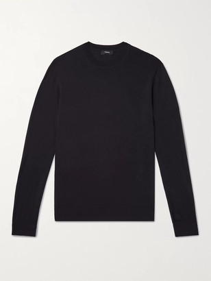 Theory Slim-Fit Wool Sweater - Men - Purple