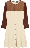 Just Cavalli Chiffon-Paneled Crepe Mini Dress