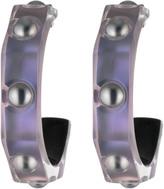 Alexis Bittar Pearl Studded Geometric Hoop Earrings