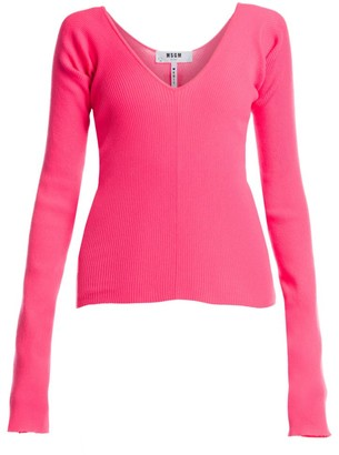 MSGM Neon Scoopneck Sweater