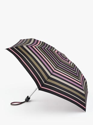 Fulton Branded Stripe Telescope Umbrella, Multi