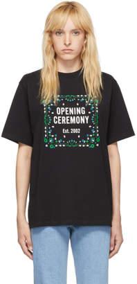 Opening Ceremony Black Bandana Box Logo T-Shirt