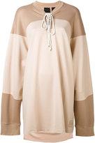 Fenty X Puma - Fenty x Puma layered sweatshirt - women - Nylon/Spandex/Elastane - XS