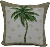 Palm Tree Outdoor Square Throw Pillows in Beige (Set of 2)