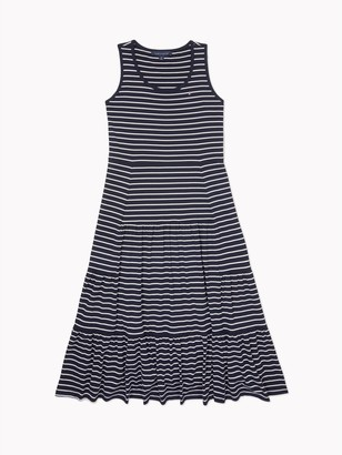 Tommy Hilfiger Relaxed Fit Essential Stripe Maxi Dress
