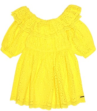 MSGM Kids Broderie anglaise cotton dress