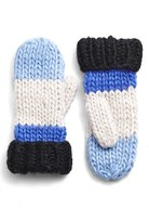 Kate Spade Hand Knit Colorblock Mittens
