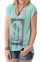 Roper Turquoise Cactus Graphic Tee