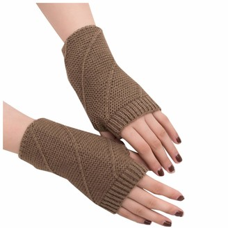 Skag Skang Women Girl Knitted Arm Fingerless Keep Warm Winter Gloves Soft Warm Mitten Solid Color Gloves