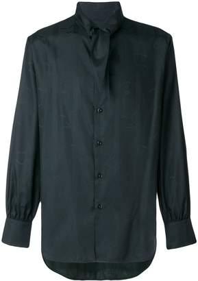 Vivienne Westwood tie collar textured shirt