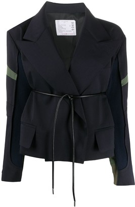 Sacai Panelled Wrap Jacket