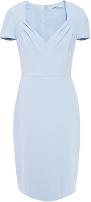 Badgley Mischka Pleated Stretch-crape Dress