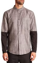 Public School Two-Tone Button-Up Shirt