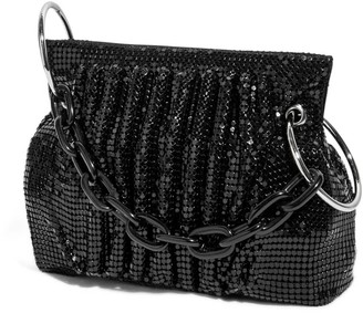 House of Want Chill Framed Clutch In Black Metal Mesh