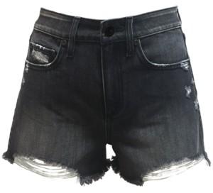 Rewash Juniors' High Rise Distressed Denim Shorts