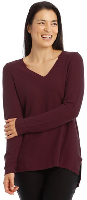 Regatta V-Neck Long Sleeve Step Hem Jumper