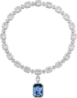 Swarovski x Penelope Cruz White Gold and Diamond Angel Necklace