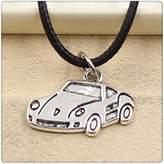Nobrand No brand Fashion Tibetan Silver Pendant car Necklace Choker Charm Black Leather Cord Handmade Jewlery