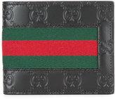 Gucci Web GG Supreme wallet - men - Cotton/Leather - One Size