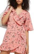 Topshop Off Duty Ruffle Tea Dress