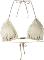 Vix Paula Hermanny textured triangle bikini top